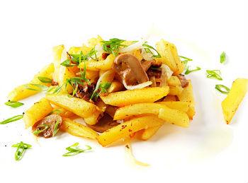 Рецепт кабачков с картофелем фри и шампиньонами